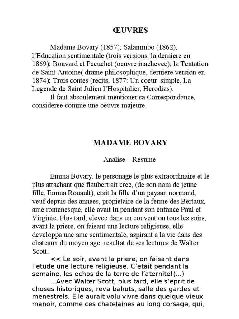 Cool Resume Madame Bovary Ideas - Entry Level Resume Templates ...