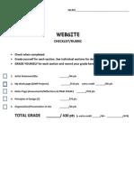 rubric checklist for website