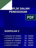 118101290 Konflik Dalam Pendidikan
