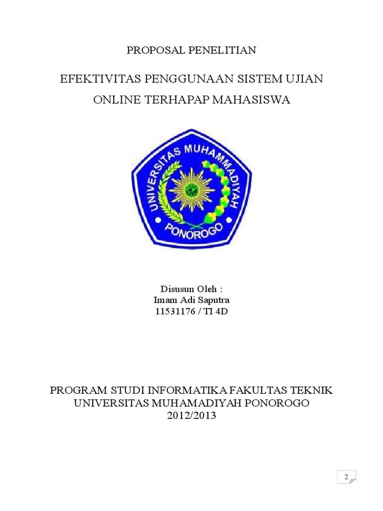 Contoh Proposal Penelitian Informatika