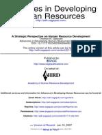 A Strategic  Human Resource Development
