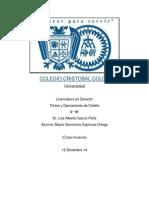 Títulos y Operaciones de Crédito
