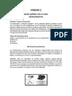 UNIDAD II Bioelementos