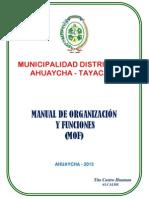 Manual obligatorio y funciones