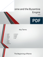 Rome and the Byzantine Empire PP