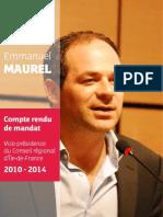 Bilan-mandat Emmanuel Maurel 2014