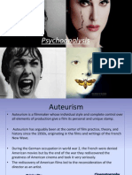 auteurism and psychoanalysis