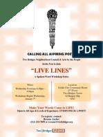 Live Lines Flyer