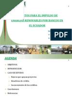 CRÉDITOS PARA EL IMPULSO DE ENERGÍAS RENOVABLES POR BANCOS EN EL ECUADOR.ppt