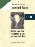 Remembering Spain - Italian Anarchist Volunteers in the Spanish Civil War