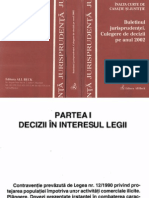 Înalta Curte de Casaţie Şi Justiţie - Buletinul Jurisprudenţei. Culegere de Decizii Pe Anul 2002