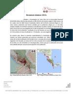 Informe Sismicidad Año 2014