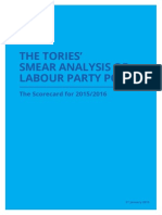 THE TORIES' SMEAR ANALYSIS OF LABOUR PARTY POLICY