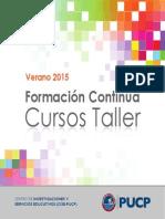 Catálogo Programa de Formación Continua 2015
