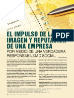 Impulso de la imagen y reputación de una empresa por medio de una verdadera responsabilidad social