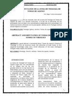 Resumen y Refutación de la Suma Teológica de Tomas de Aquino