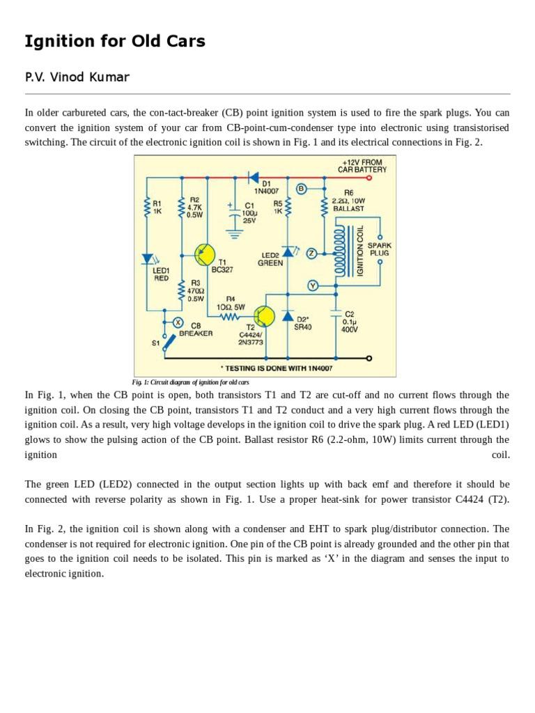 Ignition System Circuit Diagram Automotivecircuit Circuit Diagram