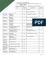 Osmania University UG I II III Year Supple Exam TimeTables28102011