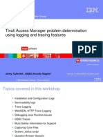 Tivoli Access Manager problem determination using logging and tracing features