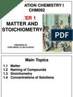 Matter and Stoichiometry Chm092 June 2014
