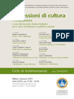 Professioni Di Cultura 2014, Locandina
