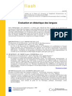 Biblio Flash Evaluation en Didactique Des Langues