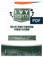 2014 Ivy Sports Symposium Student Playbook