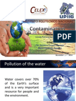 Pollution of the water