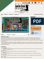 Math Odyssey GameStarter Page