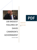 100 Biggest Failures of David Cameron's Government, By Eoin Clarke PhD