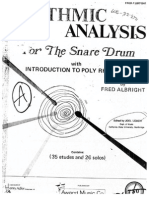 Fred Albright Rhythmic Analysis for the Snare Drum