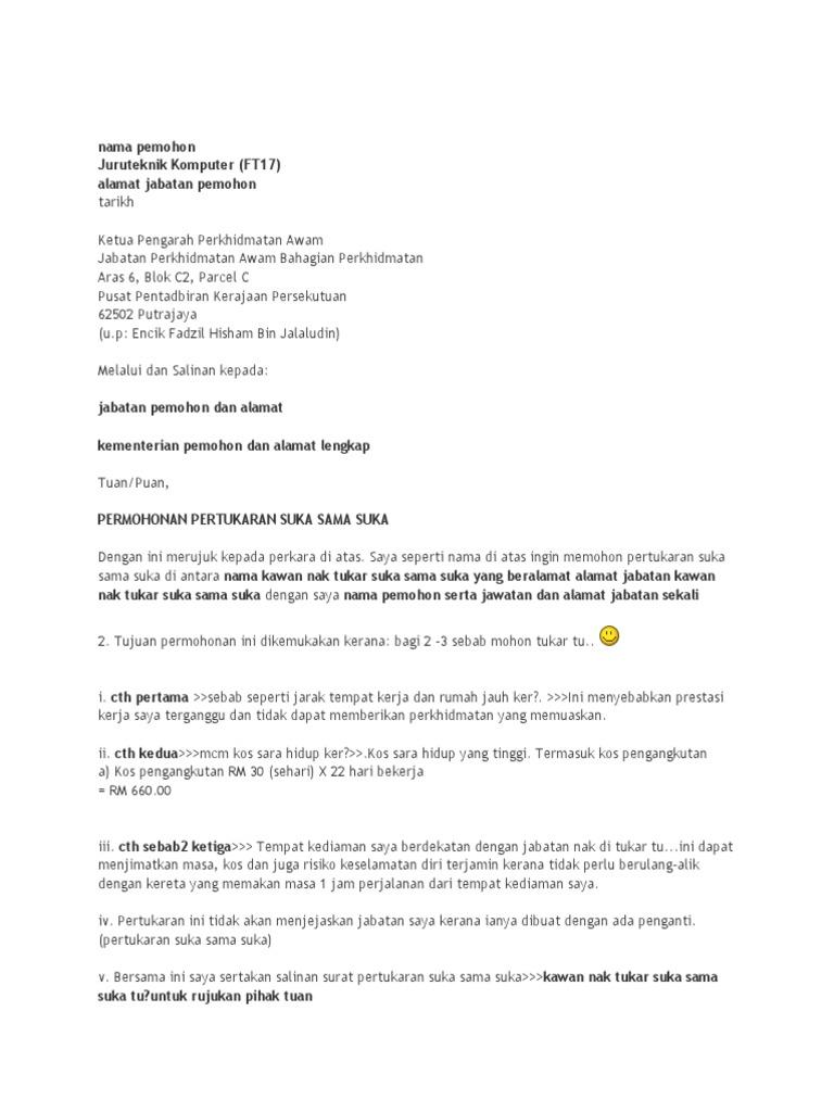 contoh cover letter jawatan juruteknik