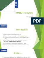 Maruti Suzuki sales and Distribution