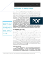 Best Practices for Leading Change