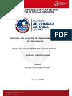Huarcaya Jorge Ejecucion Lean Control Produccion Proyectos Construccion
