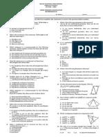 Third Periodical Exam in Math 8