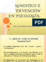Diagnostico e Intervencion en Psicologia