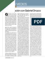 Conversación con Gabriel Orozco