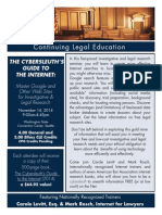 King County Bar Association 2014 Internet Investigative Research MCLE Seminar Brochure