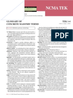 TEK 1-4 Glossary of Concrete Masonry Terms