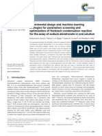 Experimental Design and Machine Learning Strategies for Parameters Screening and Optimization of Hantzsch Condensation Reaction for the Assay of Sodium Alendronate in Oral Solution (2014)