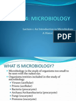 474-1 Intro and History of Microbiology