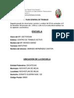 Plan General de trabajo Telesecundaria