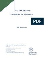 Cloud ERP Security