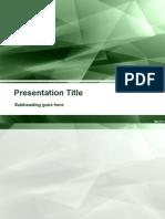 Template Presentation School work