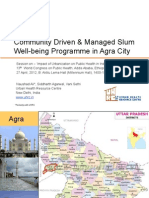 Community Driven & Managed Slum Well-being Programme in Agra City