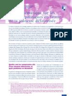 Etude UE mesures politiques jeunesse défavorisée