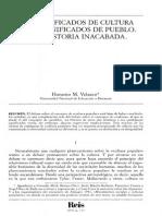 Honorio Velasco Significados de Cultura y de Pueblo
