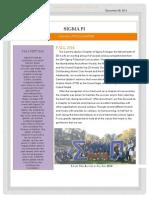 2014 Fall Undergraduate Newsletter