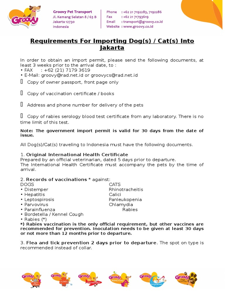 Requirement for import into jkt public health vaccines 1betcityfo Choice Image
